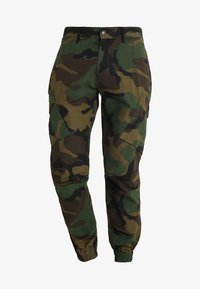 SIKSILK - FITTED CUFF PANTS - Cargo trousers - camo - 4