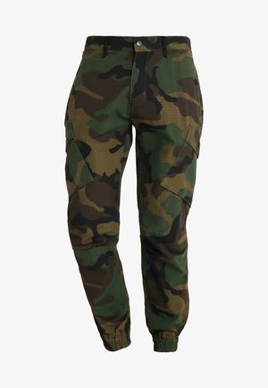 FITTED CUFF PANTS - Pantaloni cargo - camo