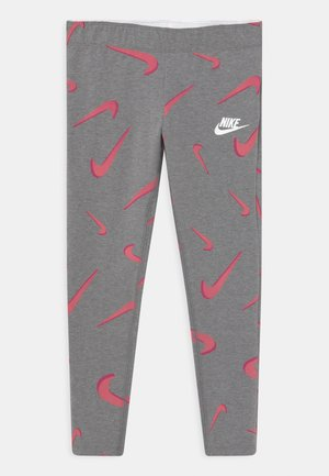FAVORITES - Leggings - Trousers - carbon heather/white