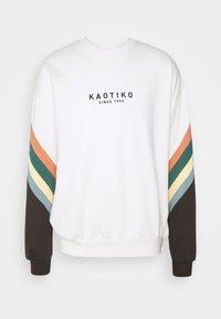 Kaotiko - CREW WALKER UNISEX - Sweatshirt - white - 5