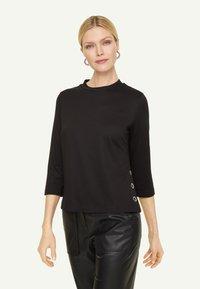 comma - PONTE  - Long sleeved top - black - 0