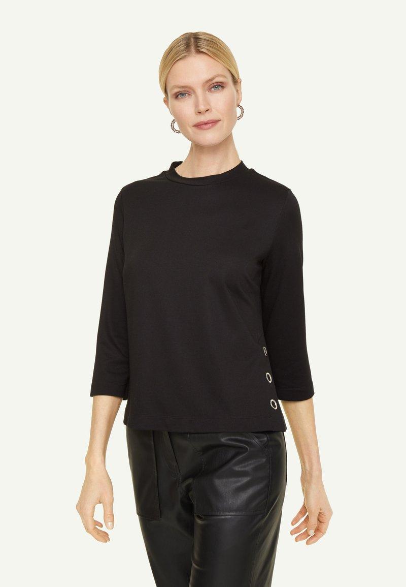 comma - PONTE  - Long sleeved top - black