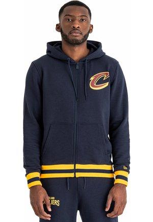 NBA STRIPE RIB CLEVELAND CAVALIERS - Zip-up hoodie - oceanside blue