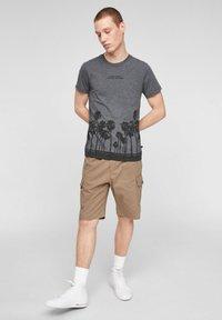 QS by s.Oliver - Print T-shirt - black placed print - 1