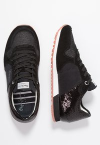 Pepe Jeans - VERONA NEW SEQUINS - Trainers - black - 3