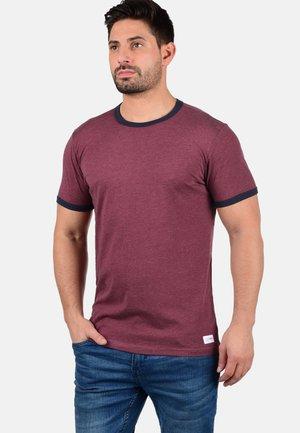 MANOLDO - Print T-shirt - wine red