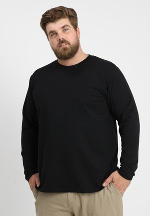 STRETCH TERRY - Long sleeved top - black