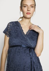 MAMALICIOUS - MLMIVANE TESS DRESS - Cocktail dress / Party dress - blue indigo - 3