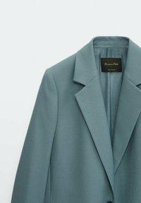 Massimo Dutti - FLANELL  - Manteau court - light blue - 5