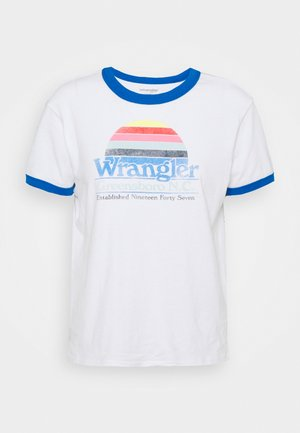 RELAXED RINGER - Print T-shirt - white