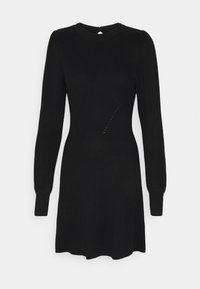 Abercrombie & Fitch - FIT FLARE DRESS - Jumper dress - black - 0