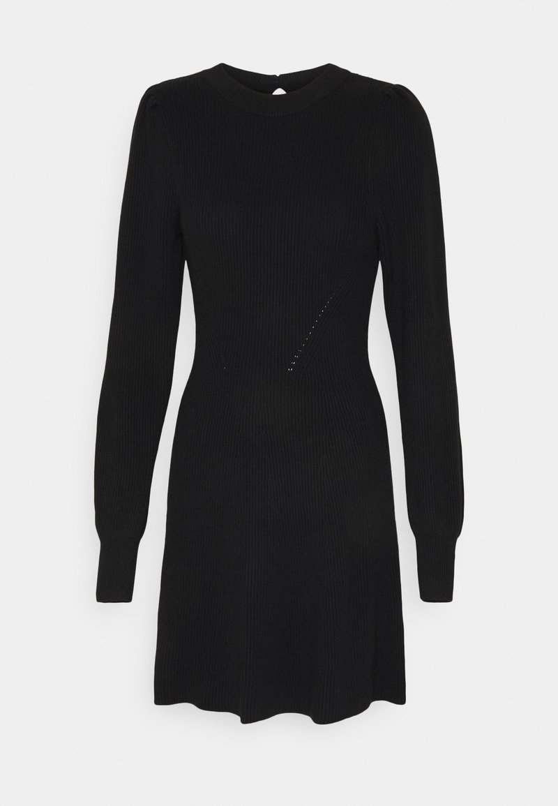 Abercrombie & Fitch - FIT FLARE DRESS - Jumper dress - black