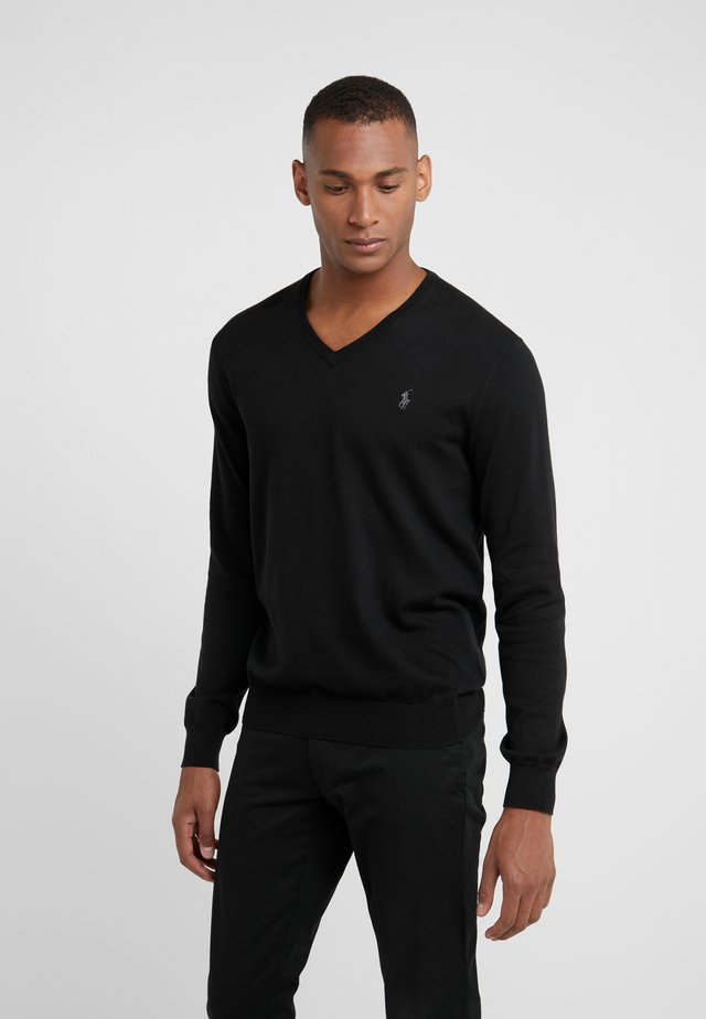 Pullover - polo black