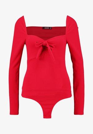 MILKMAID LONG SLEEVE BODYSUIT - Langærmede T-shirts - red