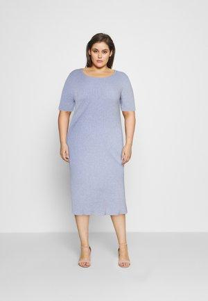 HALF SLEEVE DRESS - Pouzdrové šaty - blue