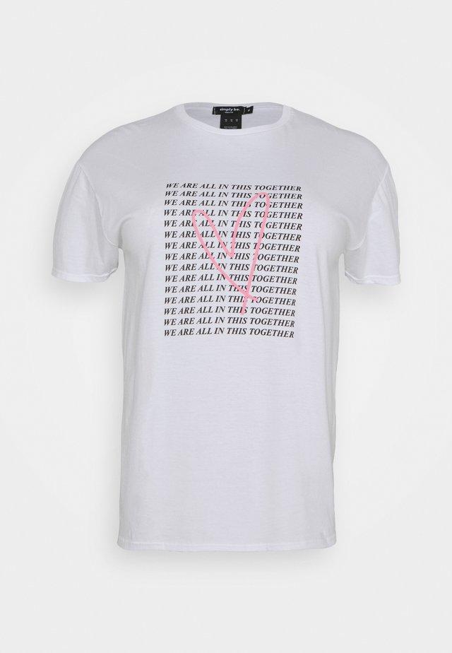 SLOGAN - T-shirt print - white