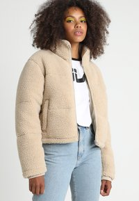 Urban Classics - LADIES BOXY PUFFER - Winter jacket - darksand - 0