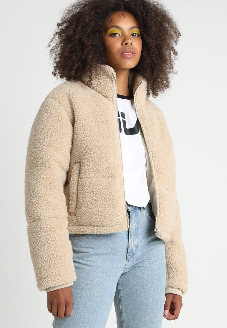 Urban Classics - LADIES BOXY PUFFER - Winter jacket - darksand
