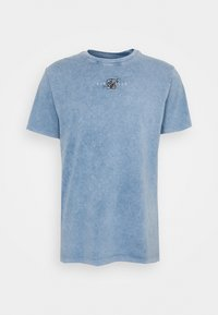 SIKSILK - STANDARD FIT TEE - Triko s potiskem - washed blue - 3