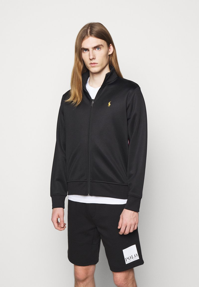 Polo Ralph Lauren - TRACK - Felpa con zip - black