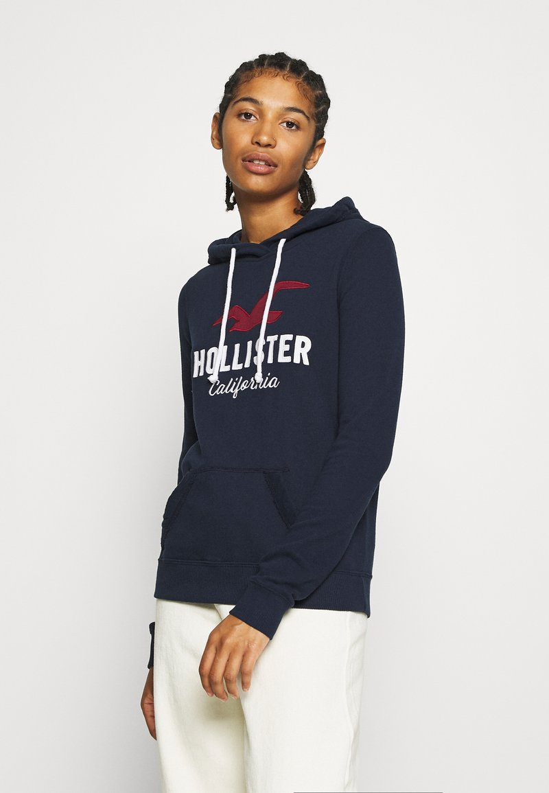 Hollister Co. - TERRY TECH CORE - Mikina s kapucí - navy