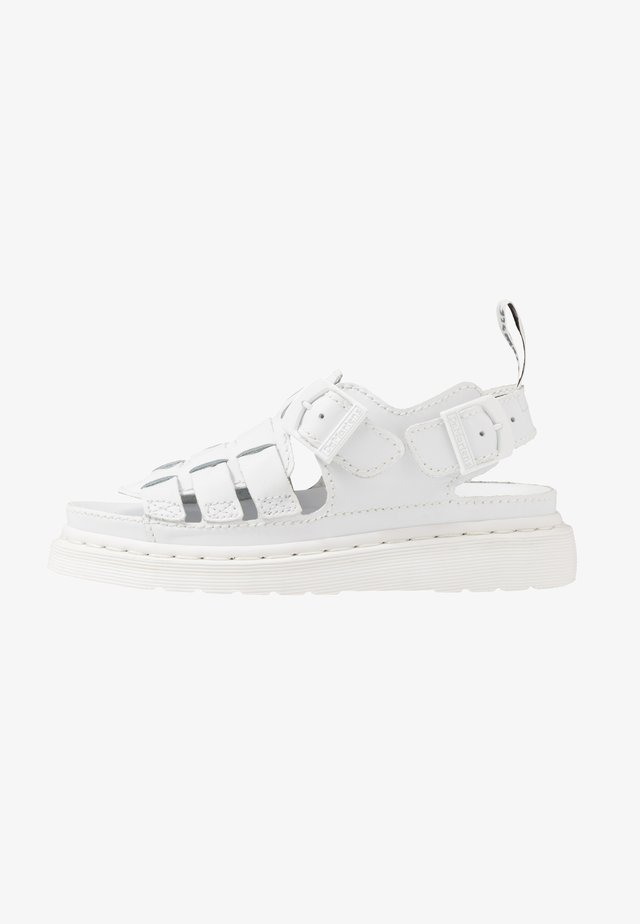 8092 ARC SANDAL - Sandalias - white softy