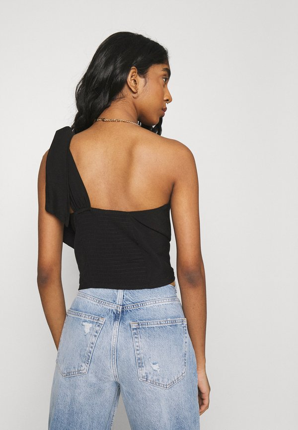 Cotton On PARTY TIME ONE SHOUDLER - Top - black/czarny DBFC