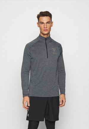 PROJECT ROCK TECH ZIP - Koszulka sportowa - pitch gray light heather