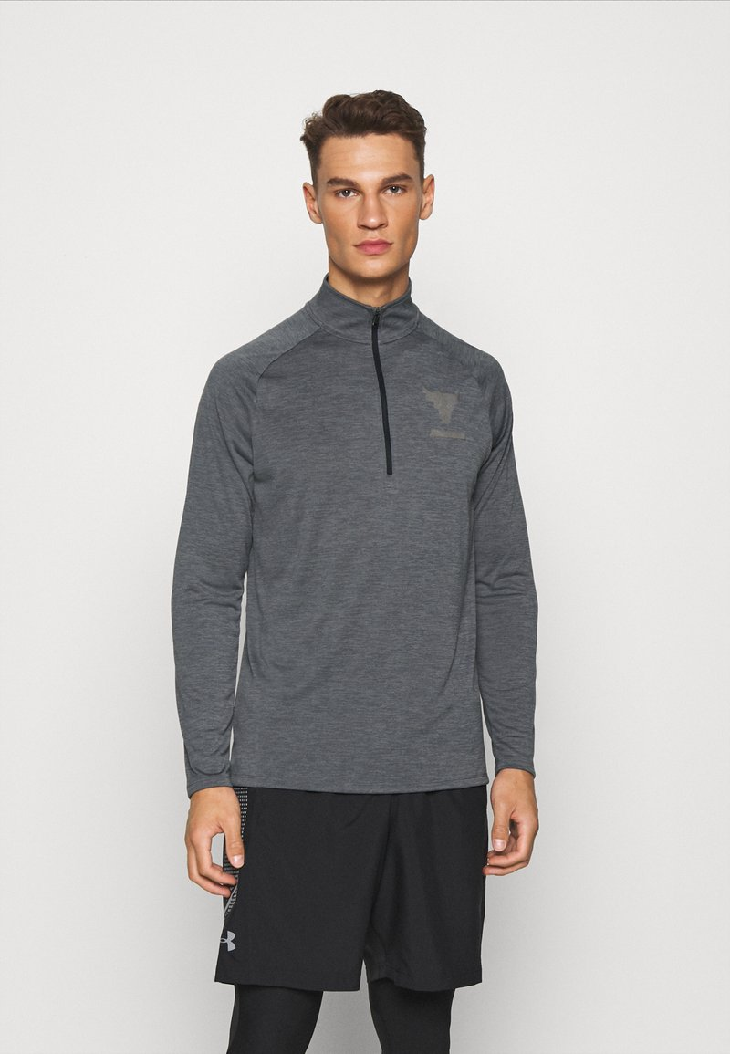 Under Armour - PROJECT ROCK TECH ZIP - Funktionstrøjer - pitch gray light heather