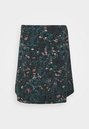 BORDER SKIRT MONTEREY - A-line skirt - black