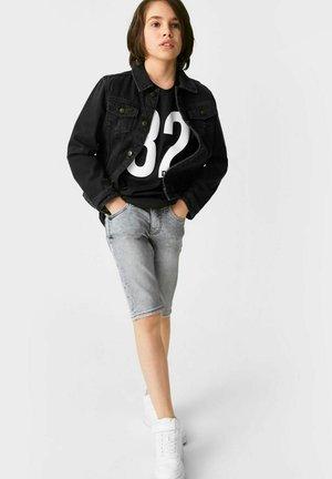 Denim shorts - denimlight gray