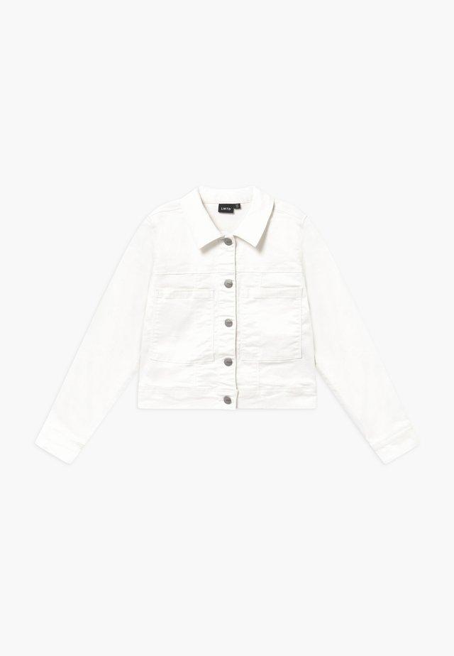 NLFALICIA  - Džínová bunda - white denim
