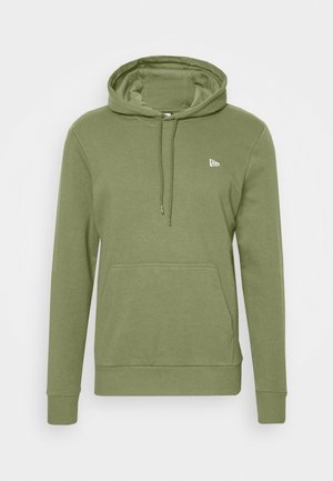 NEW ERA NEW ERAESSENTIAL FLAG HOODY - Mikina s kapucí - olive
