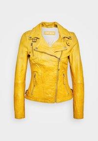 Freaky Nation - BIKER PRINCESS - Leather jacket - halo yellow - 5