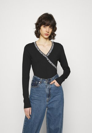INSTITUTIONAL TRIM WRAP BODY - Long sleeved top - black