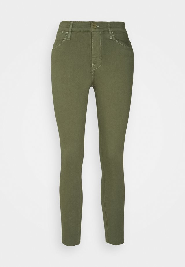 HIGH CROP - Jeans Skinny - washed military