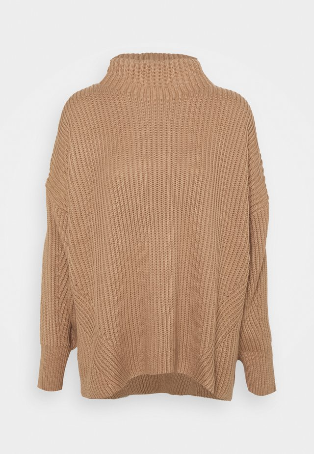 GROWN ON NECK LONGLINE JUMPERPETITE - Sweter - mocha