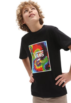 BY PRINT BOX BOYS - T-shirt med print - black/spiral tie dye