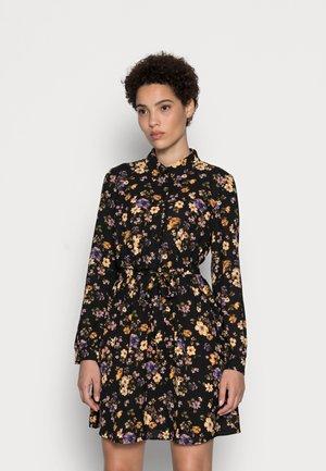 BELTED BLOUSE DRESS - Paitamekko - black/lilac
