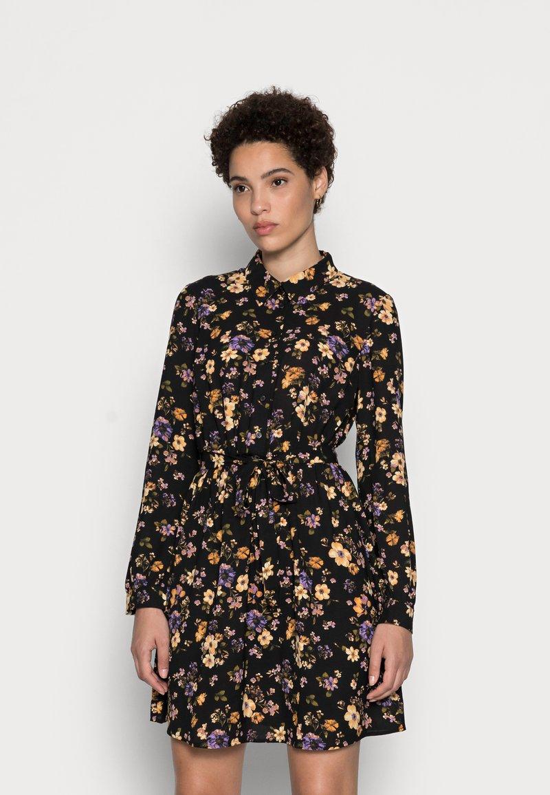 Anna Field - BELTED BLOUSE DRESS - Skjortekjole - black/lilac