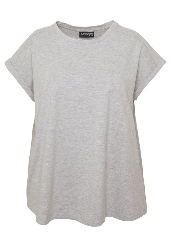 Even&Odd active T-shirt basic - mottled grey Melanż Odzież Damska GBIN MP 4