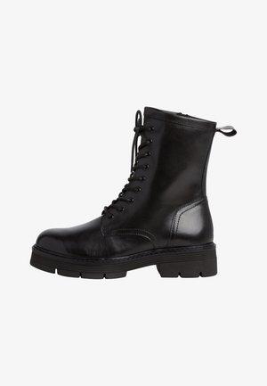 Platform ankle boots - black antic