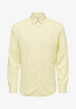 HEMD BUTTON-DOWN - Camisa - lemon meringue