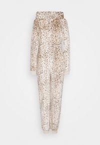 Loungeable - LEOPARD PRINT LUXURY ONESIE EMBROIDERED HOOD - Pyjamas - brown - 4