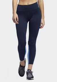 adidas Performance - HOW WE DO 7/8 LIGHT LEGGINGS - Collants - blue - 0