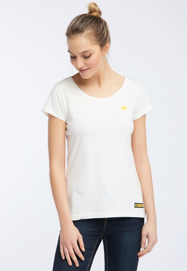 T-shirt con stampa - wool white