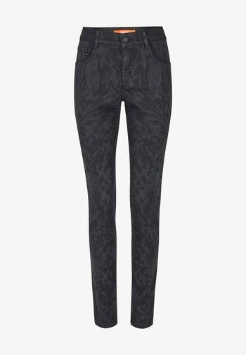 MIT DEZENTEM BLUMENMUSTER - Jeans Skinny Fit - schwarz
