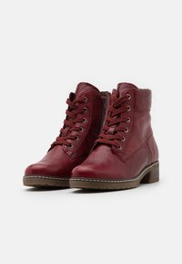 Gabor Comfort - Lace-up ankle boots - dark red - 2