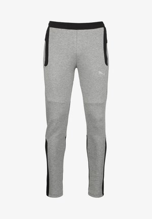 EVOSTRIPE - Tracksuit bottoms - medium gray heather