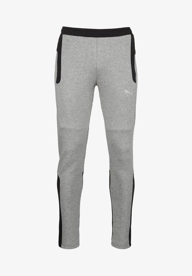 EVOSTRIPE - Tracksuit bottoms - medium gray heather